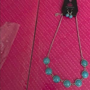 Paparazzi Adobe Attitude Blue  Necklace/Earrings.